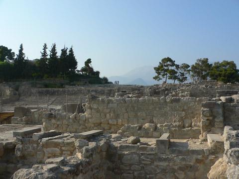 ruiny slavného mínojského paláce Festos