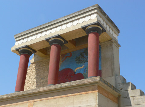 mínojský palác Knossos - údajně bájný Labyrint