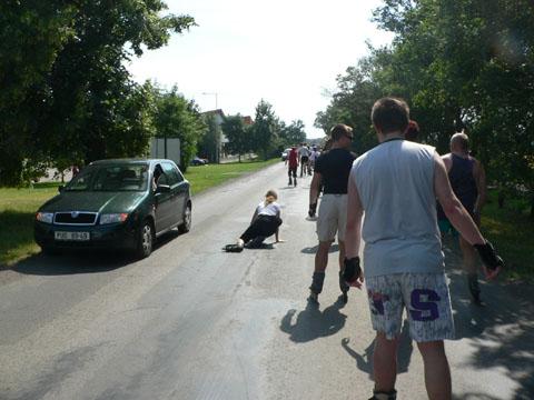 Pardubice na bruslích - crash 1