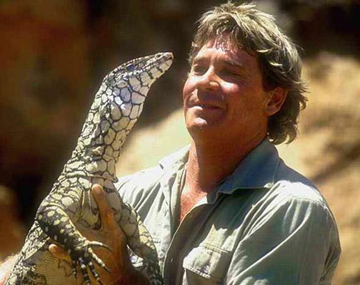 Steve Irwin a ještěr